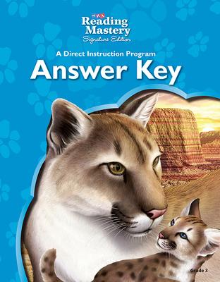 Reading Mastery Reading/Literature Strand Grade 3, Answer Key