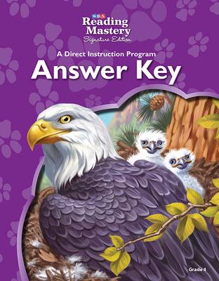 Reading Mastery Reading/Literature Strand Grade 4, Answer Key