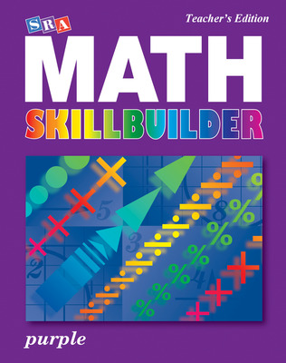 SRA Math Skillbuilder - Teacher Edition Level 8 - Purple
