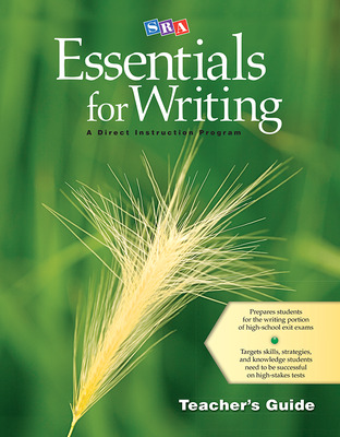 SRA Essentials for Writing Teacher's Guide