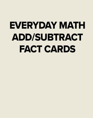 EM ADD/SUBTRACT FACT CARDS