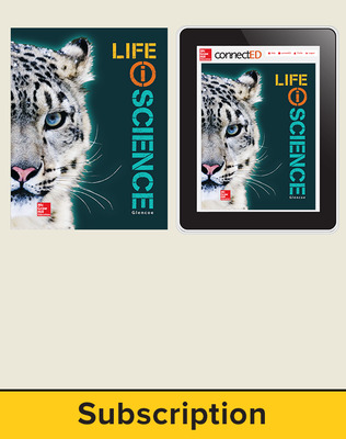 Glencoe Life iScience, Grade 7, Digital & Print Student Bundle, 1-year subscription