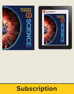 Glencoe Earth & Space iScience, Grade 6, Digital & Print Student Bundle, 1-year subscription
