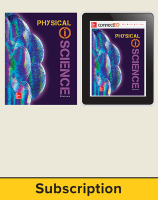 Glencoe Physical iScience, Grade 8, Digital & Print Student Bundle, 1-year subscription