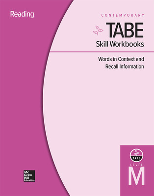 TABE Skill Workbooks Level M: Words in Context and Recall Information - 10 Pack
