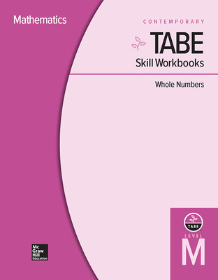 TABE Skill Workbooks Level M: Whole Numbers - 10 Pack