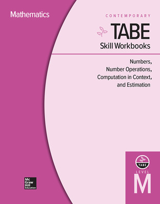 TABE Skill Workbooks Level M: Numbers, Number Operations, Computation in Context, and Estimation (10 copies)