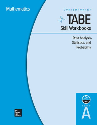 TABE Skill Workbooks Level A: Data Analysis, Statistics, and Probability - 10 Pack