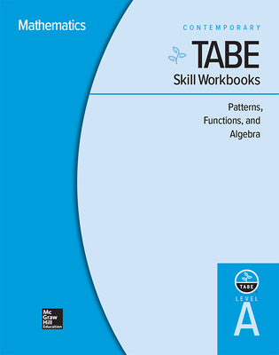TABE Skill Workbooks Level A: Patterns, Functions, Algebra - 10 Pack