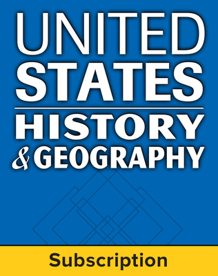 United States History and Geography: Modern Times, Complete Classroom Set, Print & Digital, 1-year subscription (set of 30)