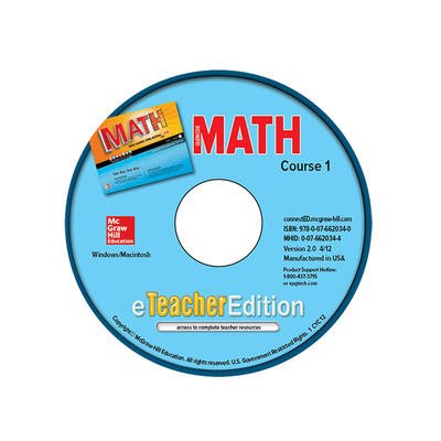 Glencoe Math, Course 1, eTeacherEdition CD-ROM