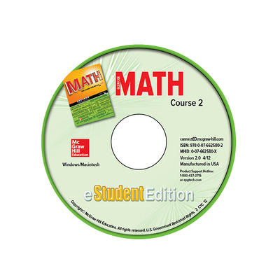 Glencoe Math, Course 2, eStudentEdition CD-ROM