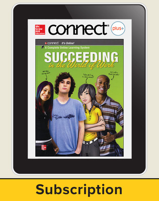 Succeeding in the World of Work, Connect Plus, up to 50 users/school/yr, 1-year subscription