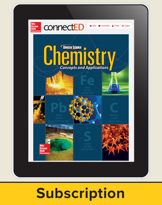 Chemistry: Concepts & Applications, eStudent Edition, 1-year subscription
