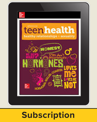 Teen Health, Online Student Seat with Healthy Relationships and Sexuality Module, 6-year Subscription