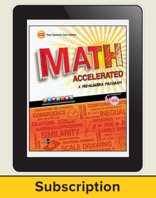 Glencoe Math Accelerated, eStudentEdition Online, 1-Year Subscription
