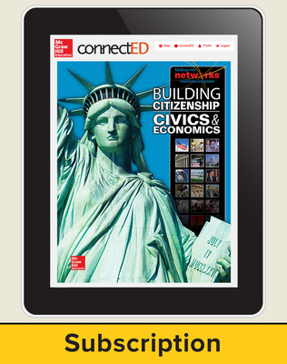 Building Citizenship: Civics and Economics, Student Learning Center, 6-Year Subscription