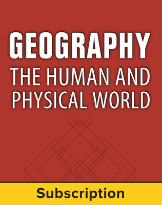 Geography: The Human and Physical World, Teacher Lesson Center, 1-Year Subscription