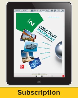 Core-Plus Mathematics Course 2, eStudent Edition 1-year subscription