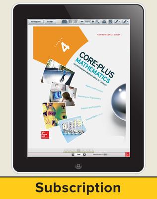 Core-Plus Mathematics Course 4, eStudent Edition 1-year subscription