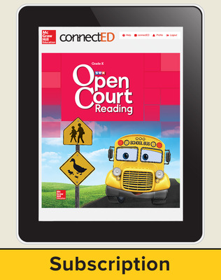Open Court Reading Grade K Student License, 3-year subscription