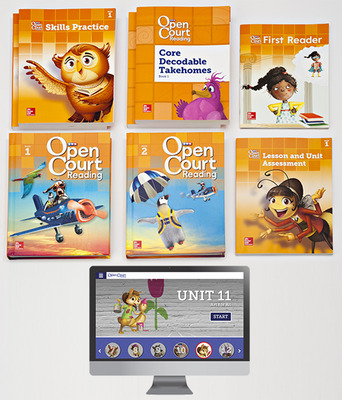 Open Court Reading Grade 1 Student Comprehensive Print Bundle with 6 Year Digital Subscription