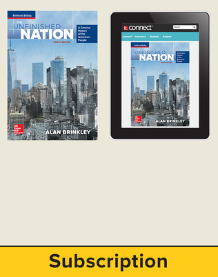 Brinkley, The Unfinished Nation: A Concise History of the American People, 2016 8e, Standard Student Bundle, 1-Year Subscription