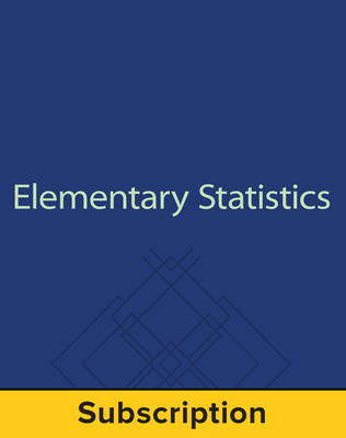 Bluman, Elementary Statistics: A Step by Step Approach, © 2015 9e, Premium Print Bundle, 6-year subscription