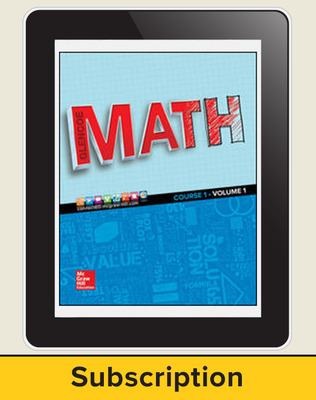 Glencoe Math 2016, Course 1 eStudentEdition, 1-year subscription