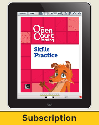 Open Court Reading Foundational Skills Kit Single Class License, I-year subscription Grade K