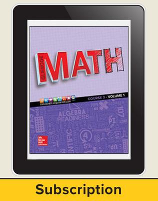 Glencoe Math 2016, Course 3 eTeacherEdition, 1-year subscription