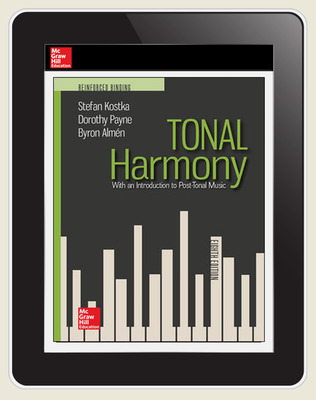 Kostka, Tonal Harmony, 2018, 8e, ConnectED eBook, 1-year subscription