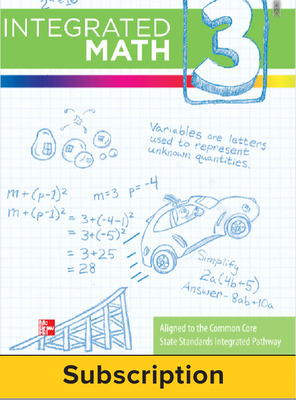 Integrated Math, Course 3, Student Bundle, 6-year Subscription