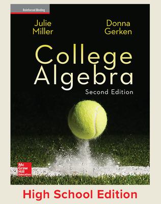College Algebra (Miller) cover