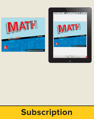 Glencoe Math 2016 Course 1, Complete Teacher Bundle, 1-year subscription