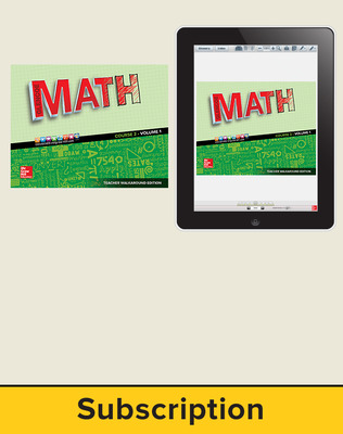 Glencoe Math 2016, Course 2 Complete Teacher Bundle, 1-year subscription