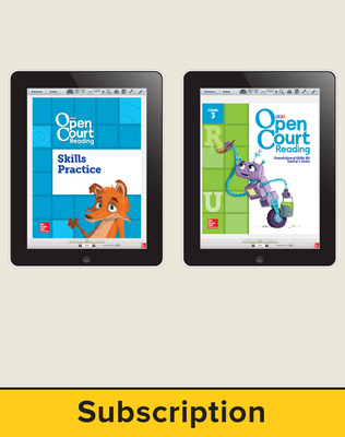 Open Court Reading Foundational Skills Kit Single Class License, 3-year subscription Grade 3