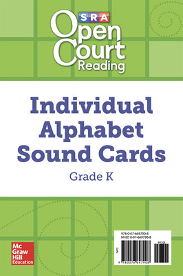Open Court Reading Grade K Individual Alphabet Sound Cards