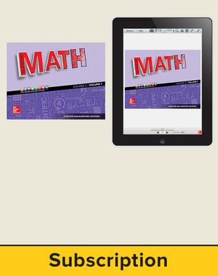 Glencoe Math 2016, Course 3 Complete Teacher Bundle, 6-year subscription
