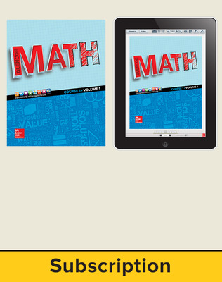 Glencoe Math 2016, Course 1 Complete Student Bundle, 6-year subscription
