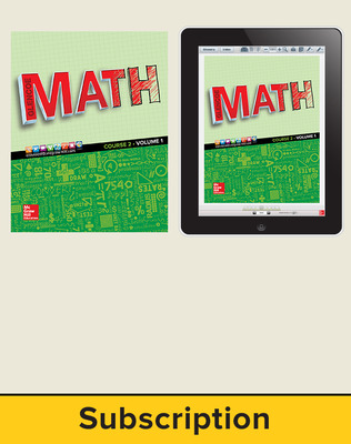 Glencoe Math 2016, Course 2 Complete Student Bundle, 1-year subscription