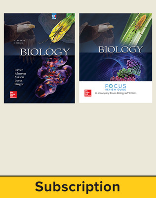 Raven, Biology, 2017, 11e (AP Edition) Student Print Bundle (Student Edition with AP Focus Review Guide)