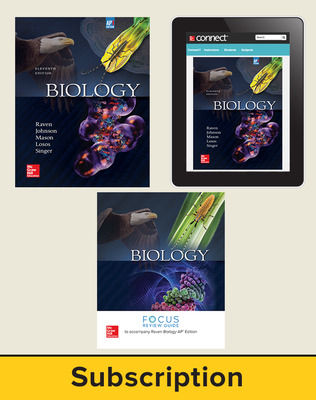 Raven, Biology, 2017, 11e (AP Edition) Premium Print Bundle (Student Edition with AP Focus Review Guide, Connect), 6-year subscription