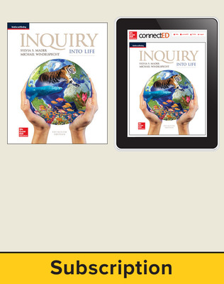 Mader, Inquiry Into Life, 2017, 15e, Student Bundle (Student Edition with ConnectED eBook), 6-year subscription