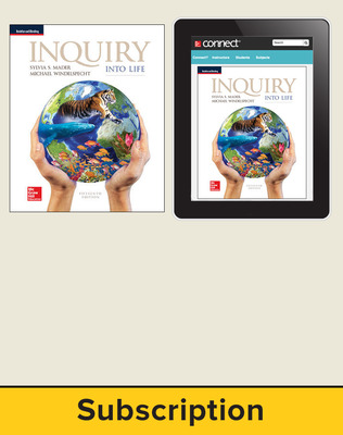 Mader, Inquiry Into Life, 2017, 15e, Standard Student Bundle, 1-year subscription