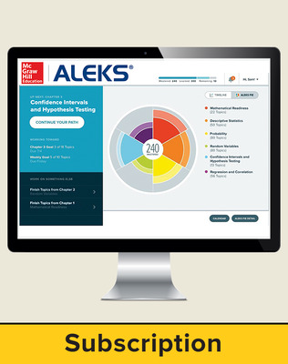 Bluman Elementary Statistics, ALEKS 360, 40-week subscription