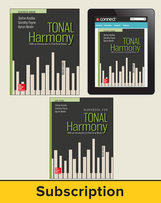Kostka, Tonal Harmony, 2018, 8e, Deluxe Student Bundle, 1-year subscription