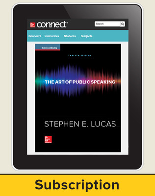 Lucas, The Art of Public Speaking, 2015, 12e, Connect Plus, 6-year subscription