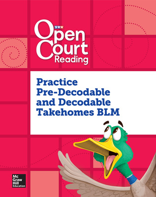 Open Court Reading, Practice PreDecodable and Decodable Takehome Book Blackline Master, Grade K