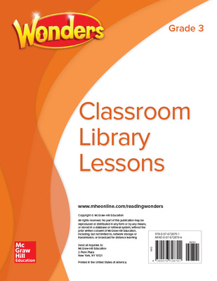 Wonders Classroom Library Lessons, Grade 3